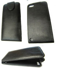 Leather Vertcial Flip Case Cover Pouch For Apple iPod Touch 5 5th Gen Black