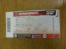 22/03/2014 Ticket: Sheffield United v Wolverhampton Wanderers  . We try and insp