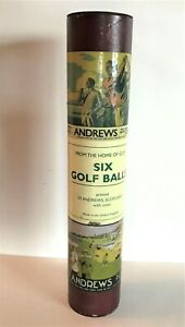 St Andrews Set 6 Golf Balls Printed With Crest Original Tube