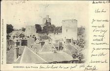 Gisors Frankreich AK 1903 Poststempel Beauvais Les Tours Türme Tower gelaufen