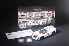 EXOTO Diecast Porsche 910 Le Mans #39 1966/67 White 1/18 222pcs LIMITED