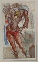 Salvador DALI :  Le conquistador - Rare estampe signée, 1948