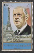 FUJEIRA - 1970, Charles de Gaulle Timbre-CTO