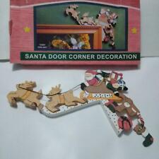 Santa Reindeer Door Corner Decoration Painted composit