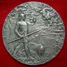 """MédailleType Argent par A.RIVET"""" Exposition Canine PARIS 1922""""SILVERED MEDAL"""