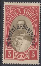 ALBANIA : 1928 Kingdom of Albania overprint 3f olive and carmine SG257 mint