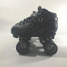 Jackson Vibe Black Quad Roller Skates Snap Atom Wheels 62mm/91a Unisex Size 4