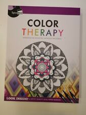 Spice Box Adult Coloring Kit Color Therapy Geometric Pattern Book 4 Markers
