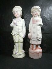 Pair Of Bisque Figurines - Matching Boy And Girl