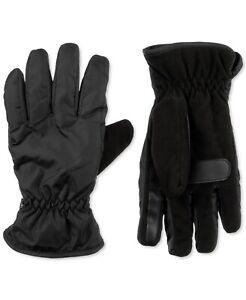 New Isotoner Signature Men's Sleek Heat Sports Gloves Black MJ29