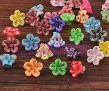20pcs 15mm Plum Flower Polymer Clay Loose Spacer Ceramic Beads Jewelry Findings