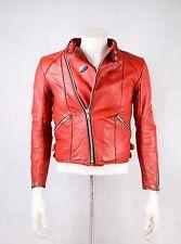 "TT LEATHERS International LEATHER JACKET RED vintage motorcycle like lewis  38 """