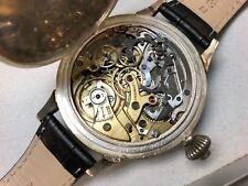 Vintage Leonidas Chronograph Oversize Swiss Made Manual Winding Watch