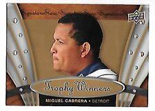 MIGUEL CABRERA   2009 UPER DECK   TROPHY WINNERS #TW-8