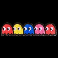 Pacman Ghosts Vintage Game Patch Cute Jacket Video Embroidered Iron On Shirt