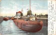 Sault Ste Marie Michigan Whaleback Sub Lake Superior Antique Postcard K104376