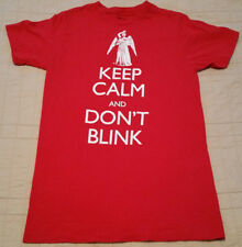 INV667- Doctor Who T Shirt S Small Red Crying Statue EUC Dr Who BBC TV Keep Calm