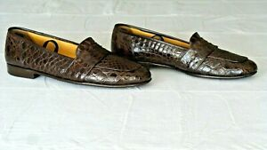 RARE! $1,200+ COLE HAAN Crocodile Alligator Loafers Slippers Boots Shoes 10