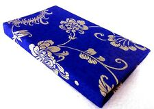 Royalblue & Gold Bloom/Branch design Silk Covered Credit Business Card Holder