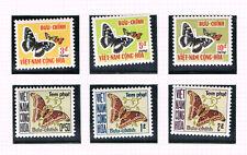 Vietnam-Sud 1968 Satz Porto 15/20 Schmetterlinge schon Postfrisch