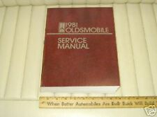 1981 OLDSMOBILE Car Factory Shop Manual Original