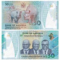 Namibia 30 Dollars, P-NEW 2020,UNC, Polymer,COMM,> 30th Independence Anniversary