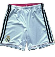 Real Madrid Adidas Kids 11-12 White Black Pink Shorts Football Kit La Liga