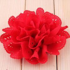 Eyelet Silk Fabric Flowers For Baby Headbands DIY Hair Accessories Craft NT6C