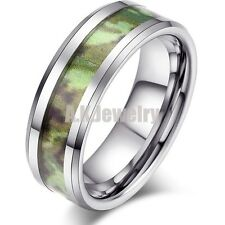 Men's Women's His & Hers Camo Wedding Ring Tungsten Band Army Design 8mm SIZE 8