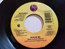 MADONNA - Rescue Me / Alternate Mix NM- 1991 HOUSE DANCE 7""