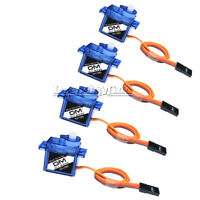 4PCS Micro RC Servo Motor Mini Gear 9G SG90 For RC Helicopter Airplane Car Boat