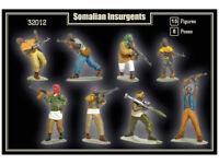 MARS 1/32 BLACKHAWK DOWN SOMALI REBELS 15 Unpainted Plastic Toy Soldiers 32012