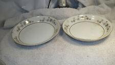 Vintage set of 2 Empress China Golden  Silhoutte Cereal Soup or Fruit Bowls