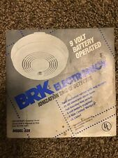 New Old Stock BRK ELECTRONICS Model # 83R Ionization Smoke Detector, From 1992