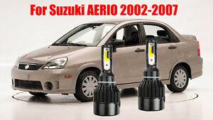 LED For AERIO 2002-2007 Headlight Kit H4/9003 6000K White CREE Bulbs HI/Low Beam