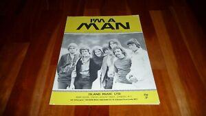 CHICAGO I'M A MAN ORIGINAL UK ISLAND MUSIC 1969 SHEET MUSIC