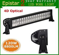 22in 120W LED Light Bar Flood Spot Combo 4D Optical Driving Lamp Jeep SUV Truck