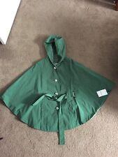 NWT Calvin Klein Women's Green Water Repellent Raincoat Cape SZ M