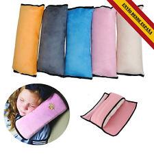 Almohadilla de cinturón seguridad auto Hombreras niño Almohada para dormir rosa