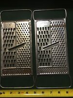 2 Stainless All In One Shredder Grater Slicer Pre-Owned U.S.A. NICE Foley