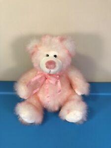 "Russ Sparkly Pink & Ivory TAFFIE Bear Stuffed Animal Plush 10"""