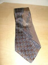 NWT Requirements Brown/Blue/Gray 100% Italian Silk Tie 56L 4W Made In USA T-4