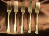 1924 Deauville Pattern Vintage Community Plate Forks Set of Six