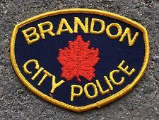 Vintage Brandon Police Shoulder Patch Flash Manitoba Canada