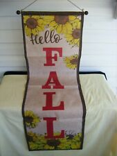 Fabric Fall Thanksgiving Burlap Banner Sunflower Flag country Home Wall Décor B