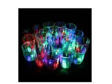 24Pc Amazing Non-toxic Plastic Colorful Flashing Light UP LED Cups Shots Glass