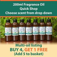 200ML FRAGRANCE OIL SCENT CANDLE & SOAP BATH BOMB ( 90 SCENTS ) BUY 4 GET 1 FREE
