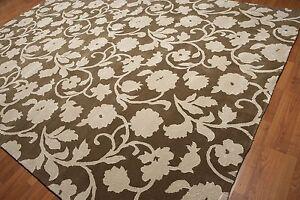 9' x 12' Handmade wool & silk Traditional Oriental Area Rug Transitional Olive