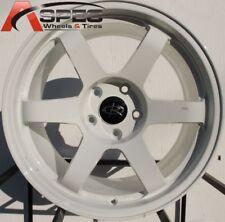 17X9.0 ROTA GRID WHEELS 5X100 WHITE RIMS +42 FITS COROLLA CELICA MATRIX TC