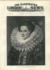 1892 Portrait Of A Lady Renaissance Costume After Barveistein